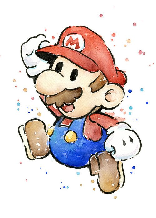 Mario Art Greeting Cards