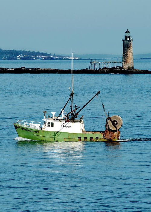 Coast Greeting Card featuring the photograph Maritime by Greg Fortier