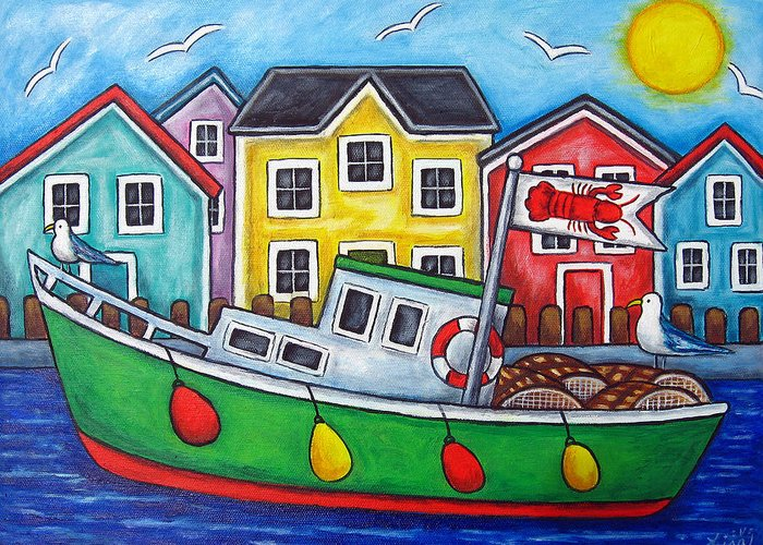 Lisa Lorenz Greeting Card featuring the painting Maritime Special by Lisa Lorenz