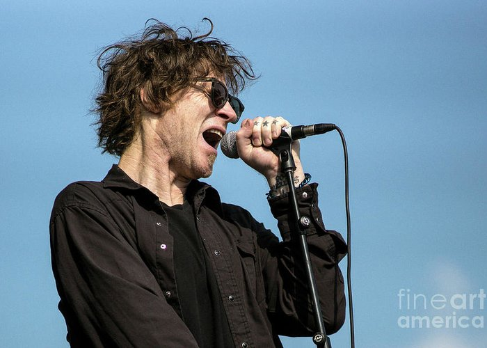 Mark Greeting Card featuring the photograph Mark Lanegan - 001 by Olivier Parent