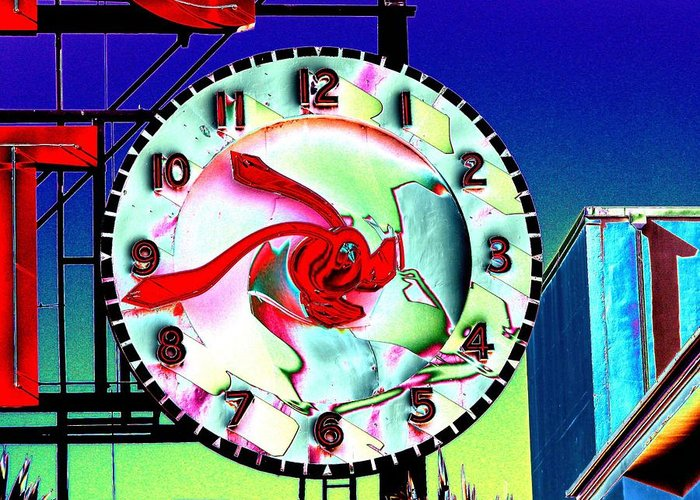 Seattle Greeting Card featuring the photograph Market Clock 2 by Tim Allen