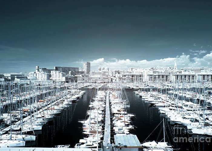 Marseille Blues Greeting Card featuring the photograph Marseille Blues by John Rizzuto