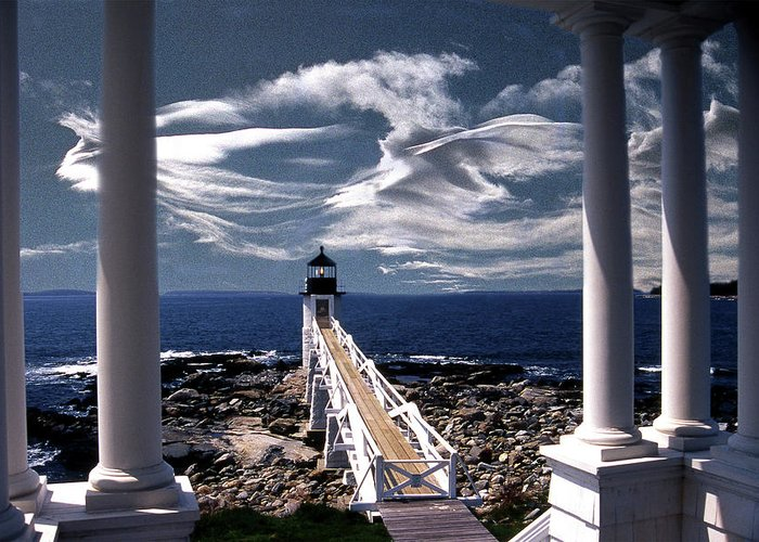 Lighthouses Greeting Card featuring the photograph Marshall Point Lighthouse Maine by Skip Willits
