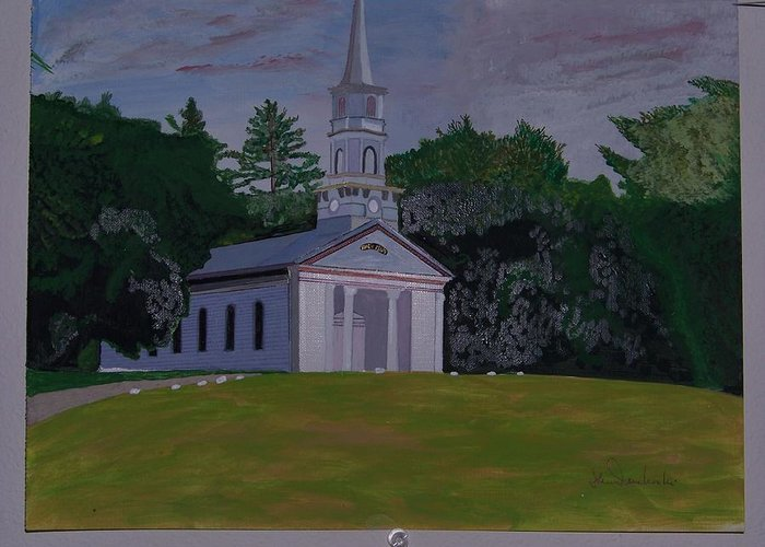 Martha Mary Chapel Greeting Card featuring the painting Martha Mary Chapel by William Demboski