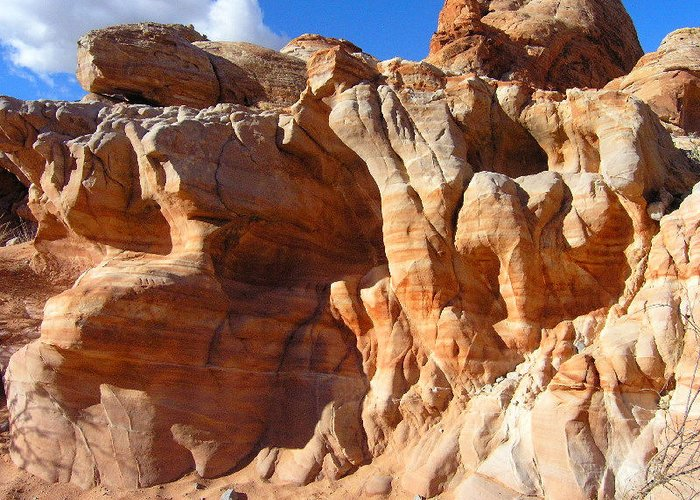 Nature Greeting Card featuring the photograph Martian Cliffs by Silvie Kendall
