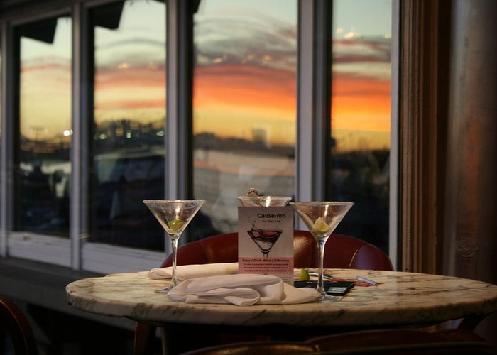 Martini Greeting Card featuring the photograph Martini At Sunset by Joshua Sunday