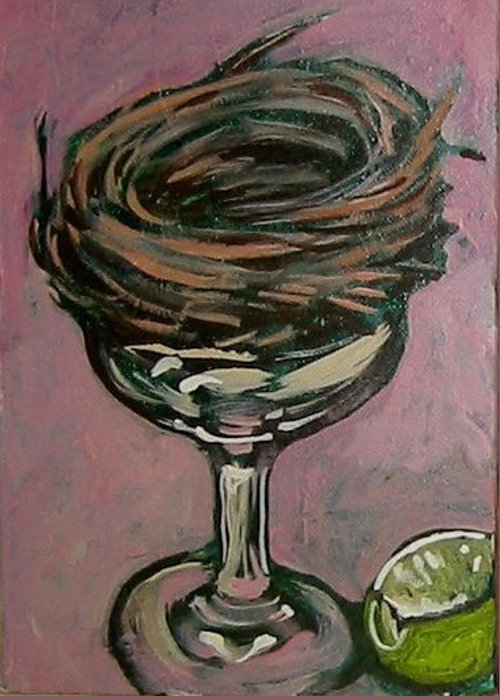 Nest Greeting Card featuring the painting Martini Nest by Tilly Strauss