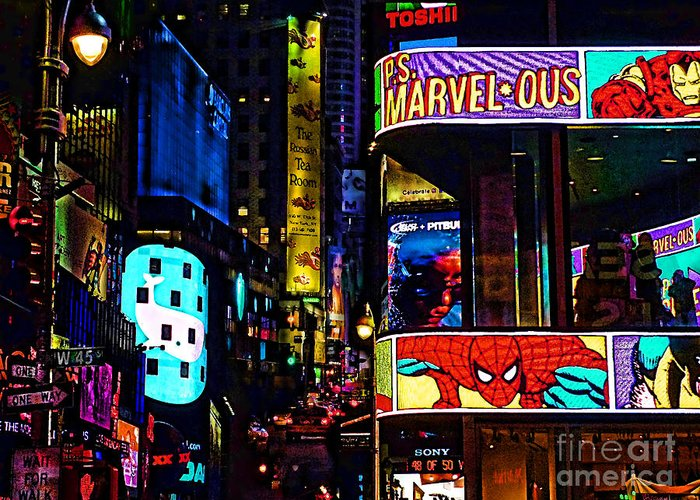 Marvel Comics Greeting Card featuring the photograph Marvelous by Jeff Breiman