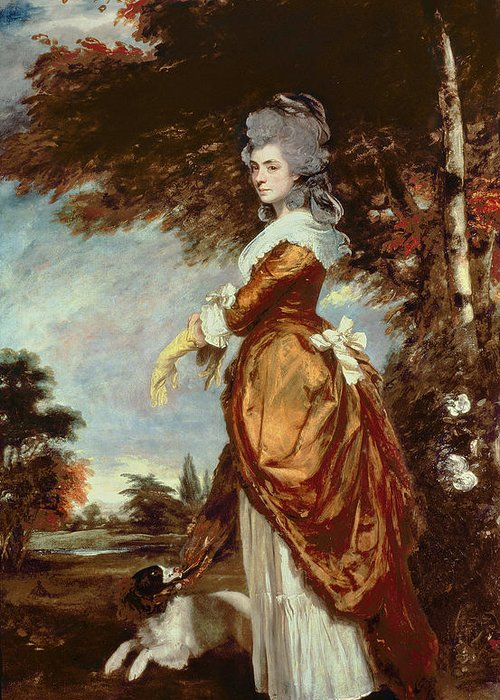 Woman Greeting Card featuring the painting Mary Amelia First Marchioness Of Salisbury by Sir Joshua Reynolds