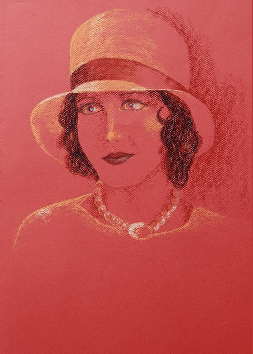 Pastel Greeting Card featuring the pastel Mary Brian by Marina Garrison