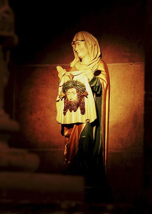 Catholic Icons Greeting Card featuring the photograph Mary Magdalene by Chris Brewington Photography LLC