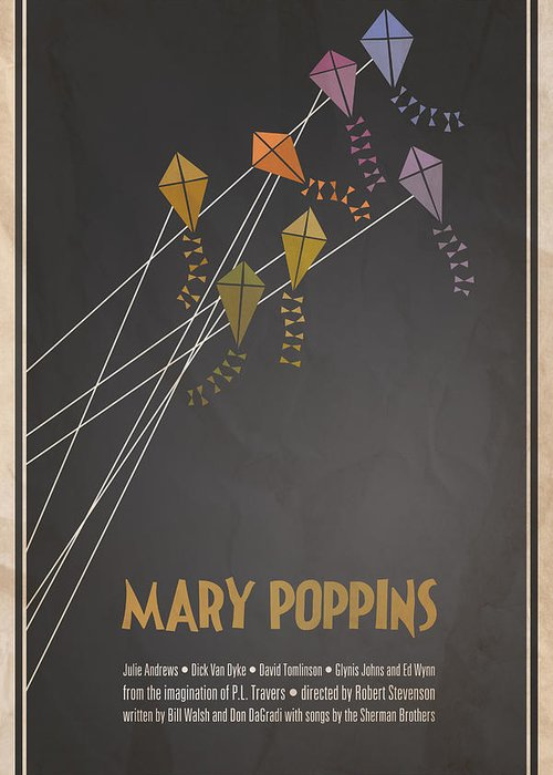Julie Andrews Greeting Card featuring the digital art Mary Poppins by Megan Romo