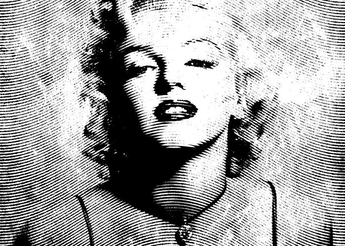 Marylin Greeting Card featuring the digital art Marilyn Monroe - 04a by Variance Collections