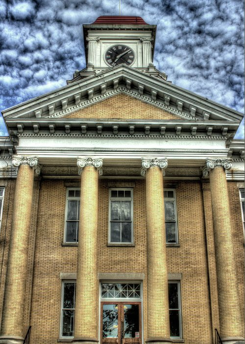 Maryville Tennessee Courthouse Greeting Card featuring the photograph Maryville Tennessee Courthouse by Michael Eingle