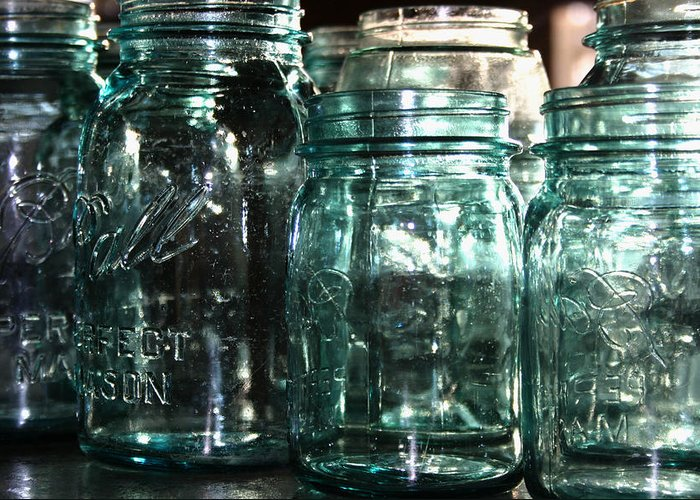 Ball Mason Jars Greeting Card featuring the photograph Mason by Meaghan Jacklitch