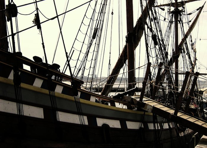 Wooden Ship Greeting Card featuring the photograph Master And Commander V2 by Douglas Barnard