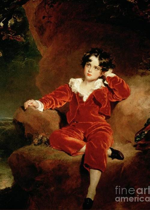 Sir Thomas Lawrence Greeting Card featuring the painting Master Charles William Lambton by Sir Thomas Lawrence