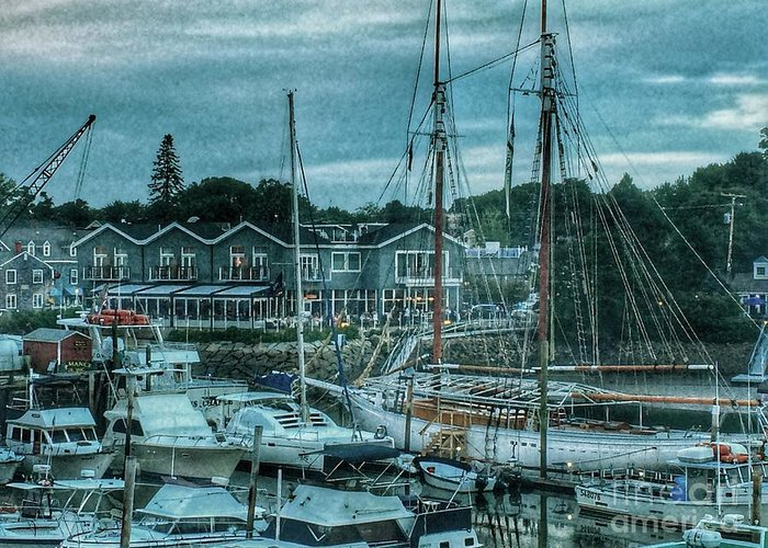 Boats Greeting Card featuring the photograph Masts Hysteria by MaryLou England