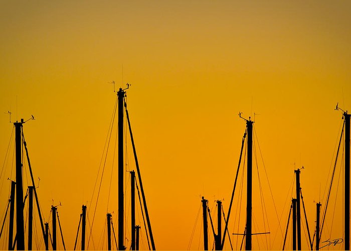 Boat Greeting Card featuring the photograph Masts by Spadafora Photography