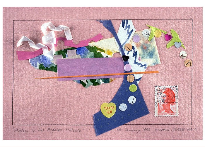 Collage Greeting Card featuring the mixed media Matisse In Los Angeles by Eileen Hale
