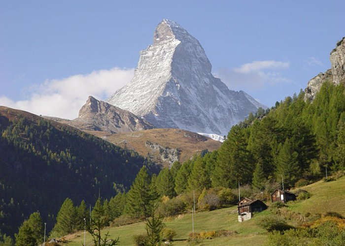 Matterhorn Greeting Card featuring the photograph Matterhorn Switzerland by Angel Ortiz