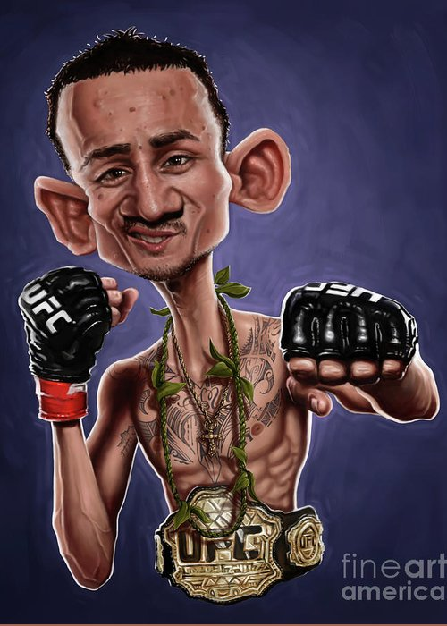 Max Holloway Greeting Card For Sale By Andre Koekemoer