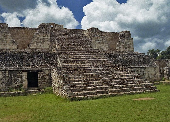 Mayan Greeting Card featuring the photograph Mayan Ruins 2 by Michael Peychich