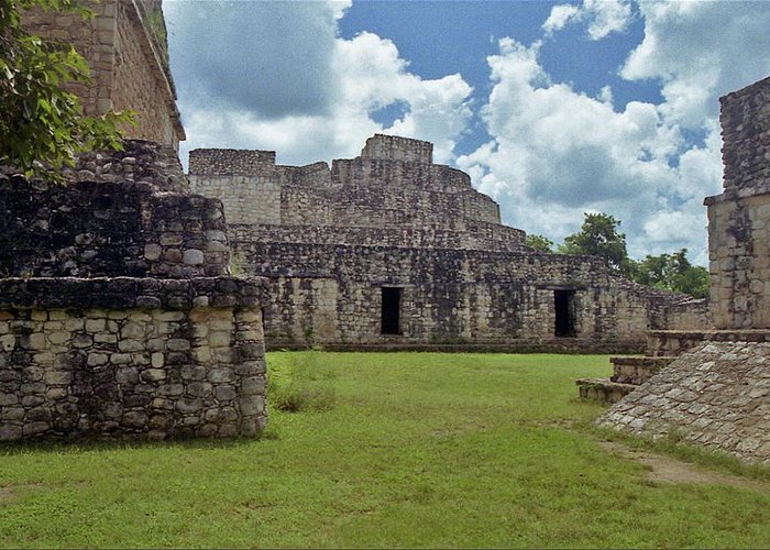 Mayan Greeting Card featuring the photograph Mayan Ruins 3 by Michael Peychich