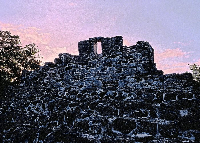 Ruins Greeting Card featuring the photograph Mayan Ruins In Cozumel Mexico by Thomas Firak