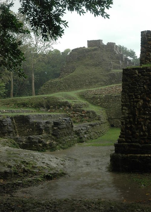 History Greeting Card featuring the photograph Mayan Ruins by Lori Mellen-Pagliaro