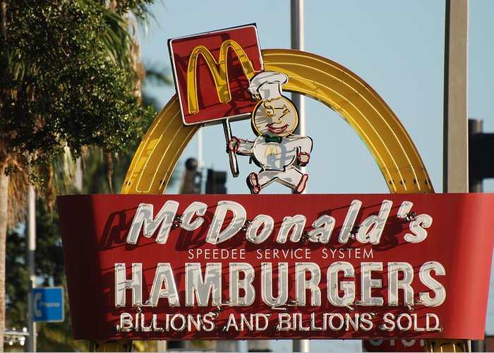 Mcdonalds Greeting Card featuring the photograph Mc Donalds by Rob Hans