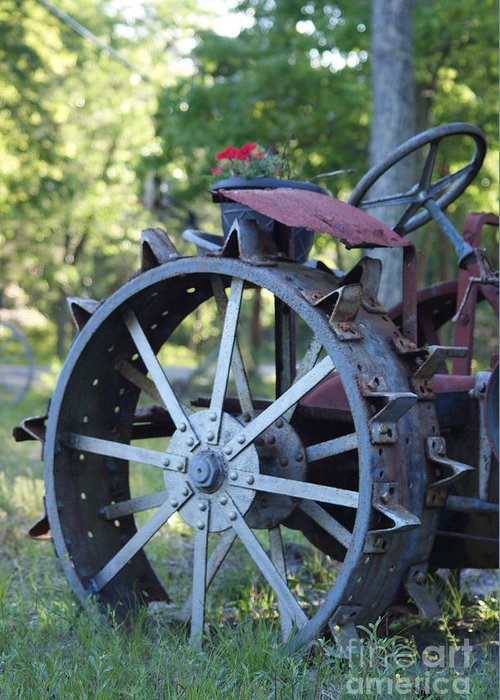 Mccormic Greeting Card featuring the photograph Mccormic Deering Farm Tractor  # by Rob Luzier
