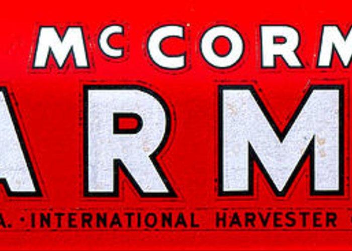 International Harvester Logo >> Mccormick Farmall By International Harvester Greeting Card