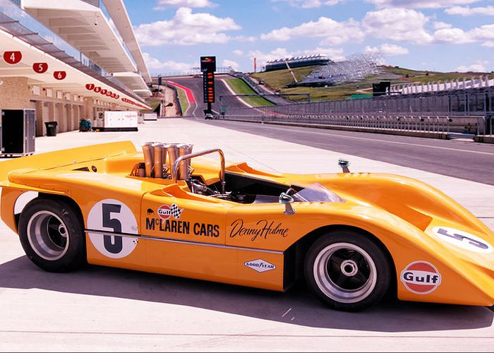 mclaren m8a greeting card for salepeter chilelli