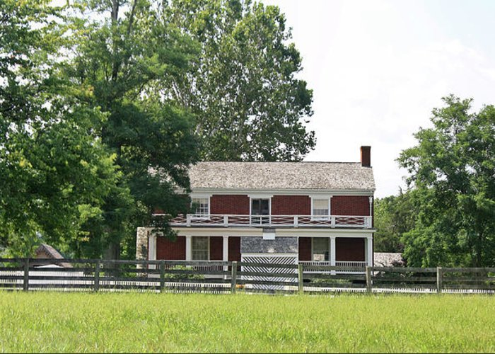 Appomattox Greeting Card featuring the photograph Mclean House Appomattox Court House Virginia by Teresa Mucha