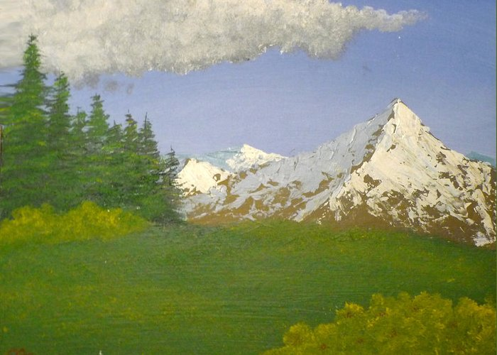 Meadow Greeting Card featuring the painting Meadow by Christian Hidalgo