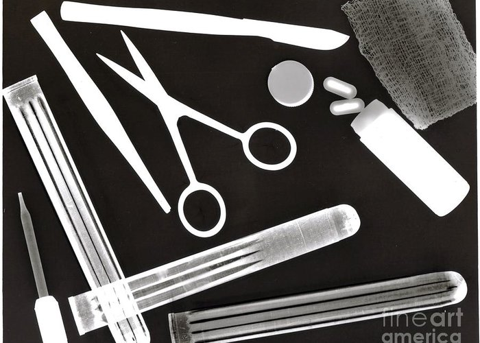 Monochromatic Greeting Card featuring the photograph Medical by Karla Kernz
