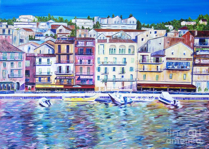France Greeting Card featuring the painting Mediterranean Morning by JoAnn DePolo
