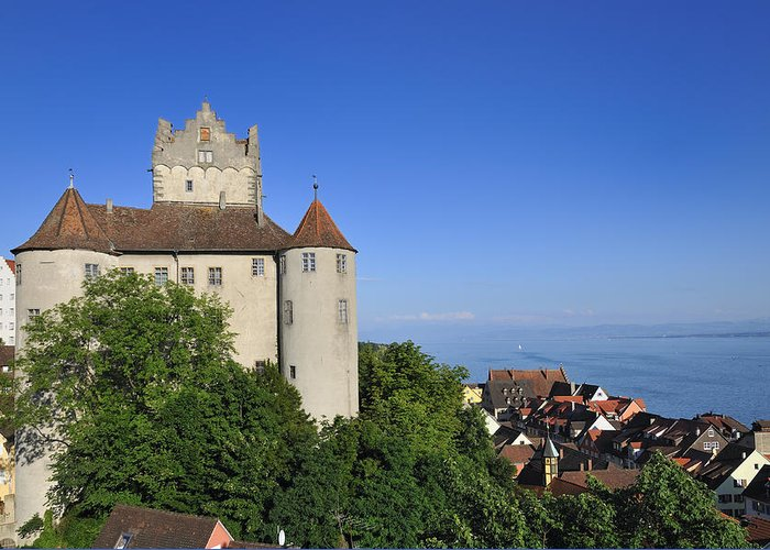 Meersburg Greeting Card featuring the photograph Meersburg Castle - Lake Constance Or Bodensee - Germany by Matthias Hauser