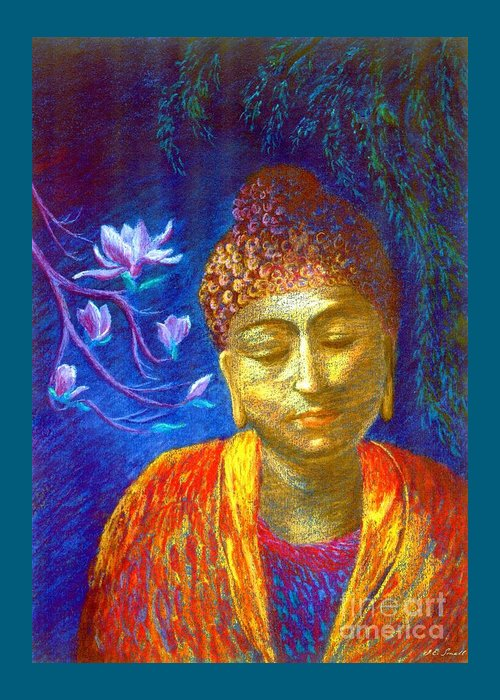 Buddha Greeting Card featuring the painting Meeting With Buddha by Jane Small