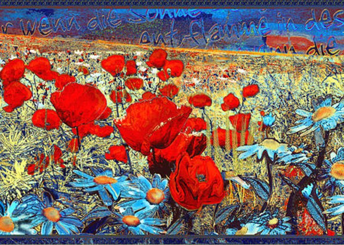 Papaver Greeting Card featuring the painting Melancholic Of Late Summer by Anne Weirich