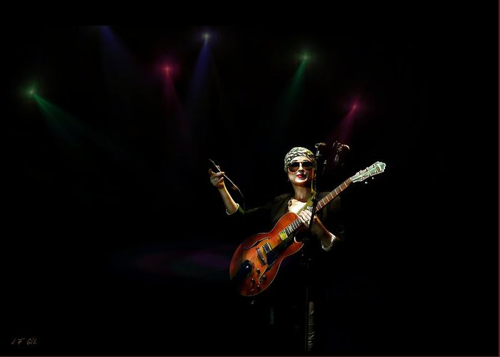 Singer Greeting Card featuring the photograph Melody Gardot 1 by Jean Francois Gil