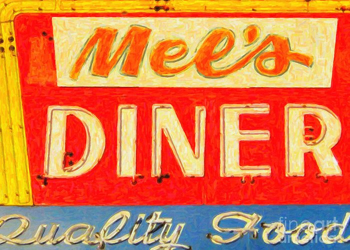 Mels Diner Greeting Card featuring the photograph Mels Diner by Wingsdomain Art and Photography