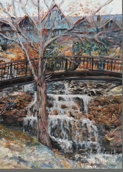 Waterfalls Greeting Card featuring the painting Memories by Nadine Rippelmeyer