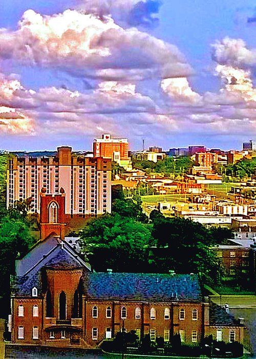 Memphis Greeting Card featuring the photograph Memphis Church by Gary Clem