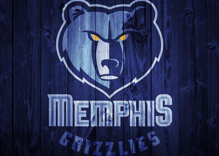 Memphis Grizzlies Digital Art Greeting Cards