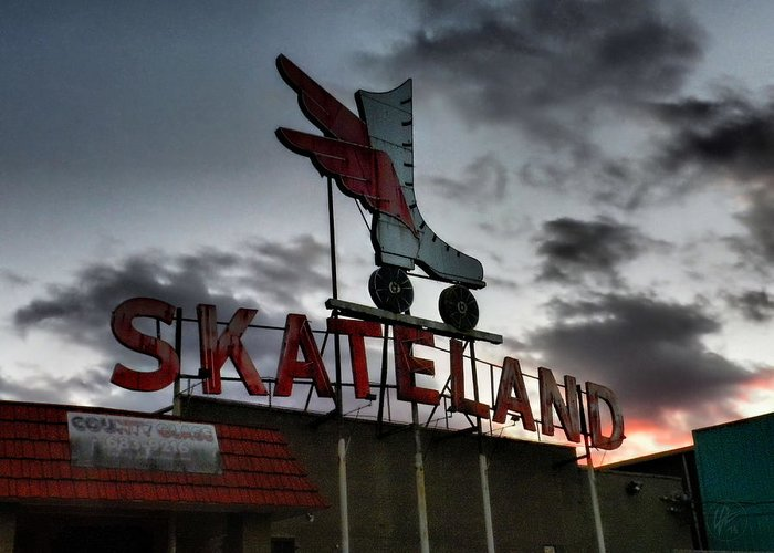 Memphis Greeting Card featuring the photograph Memphis - Skateland 001 by Lance Vaughn