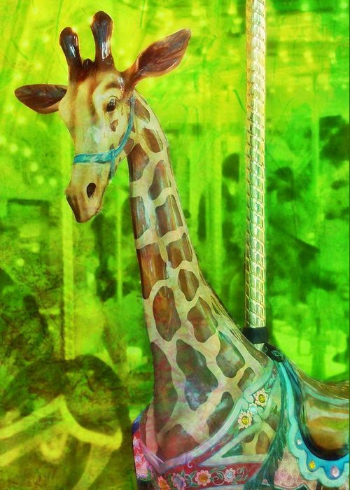 Giraffe Greeting Card featuring the photograph Menagerie by JAMART Photography