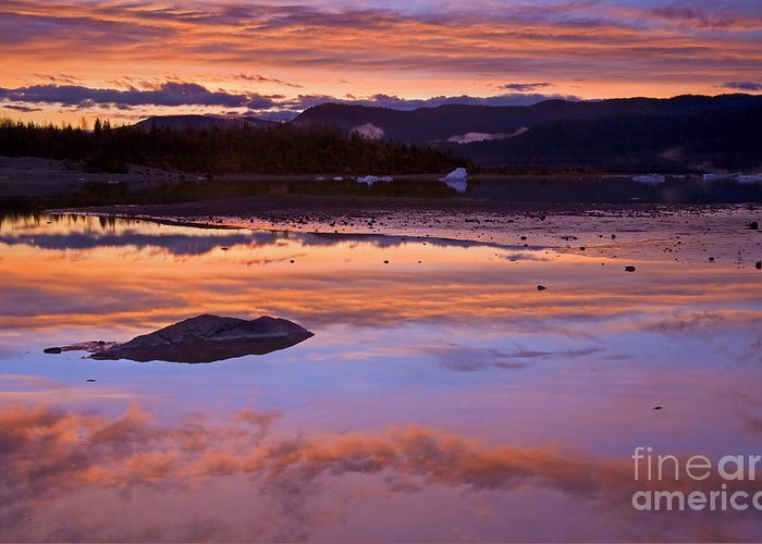 Sunset Greeting Card featuring the photograph Mendenhall Sunset by Mike Dawson