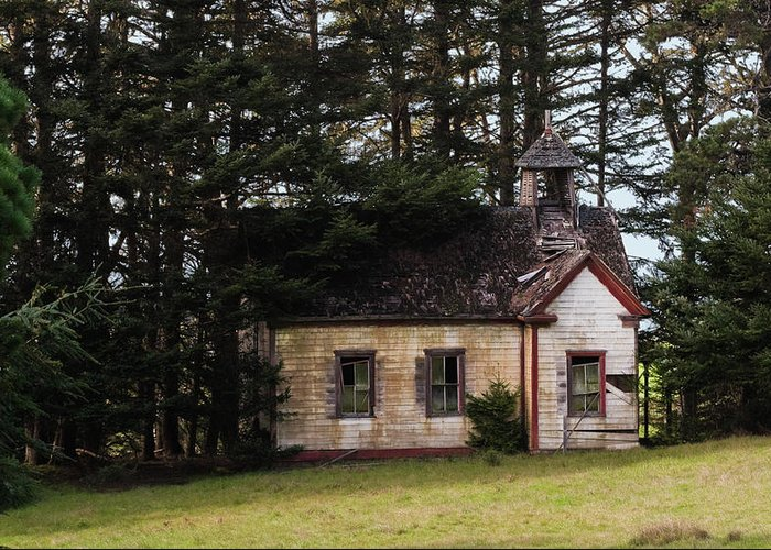 Mendocino Greeting Card featuring the photograph Mendocino Schoolhouse by Grant Groberg